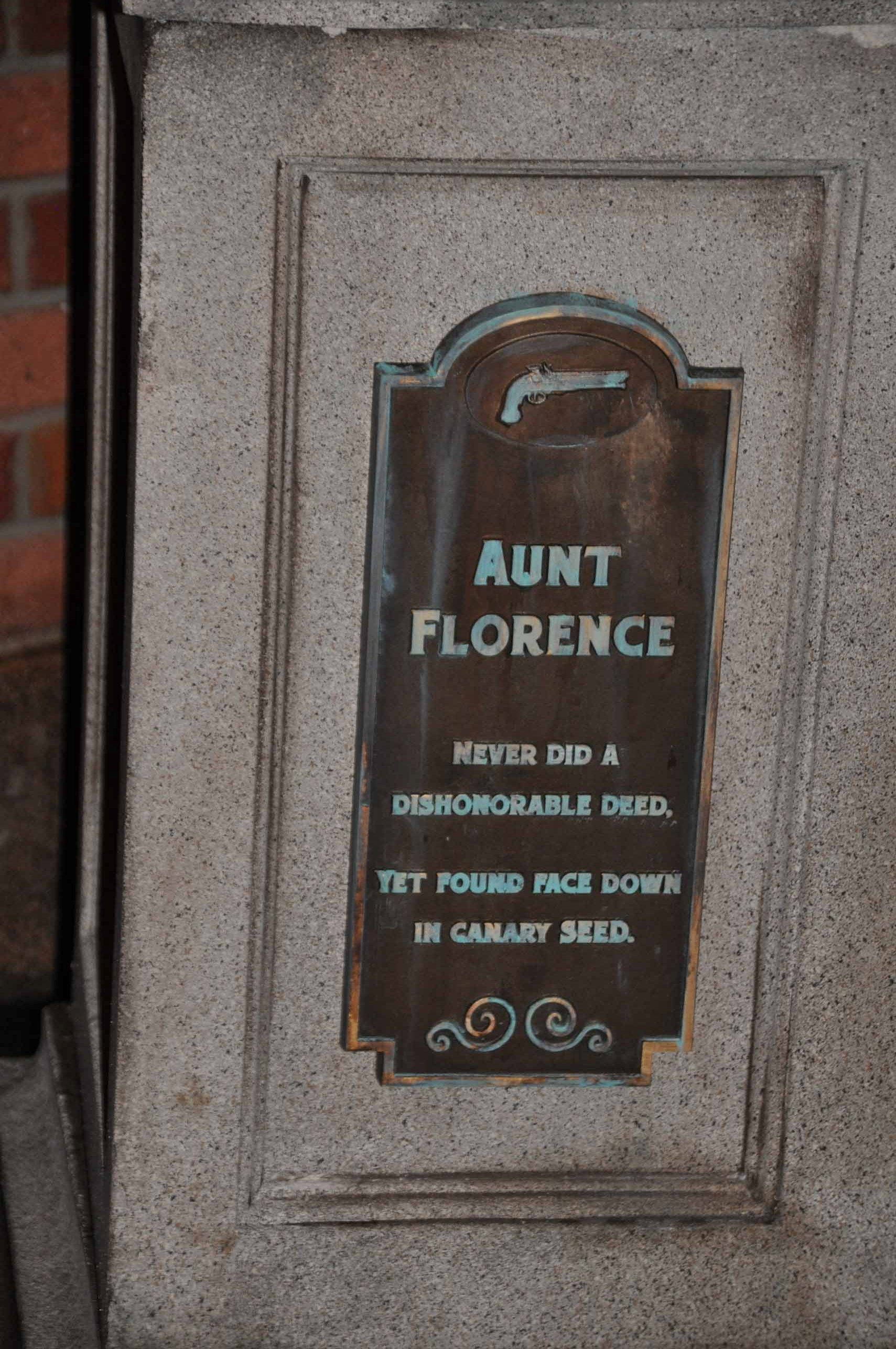 Haunted Mansion Queue - Aunt Florence 2