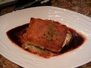 Flying Fish Potato Wrapped Snapper