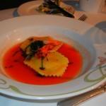 Enchanted Garden Lobster Ravioli Appetizer