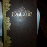 Disney Fantasy Royal Court Menu