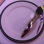 Even the butter knives are themed at Animator's Palate onbaord the Disney Fantasy