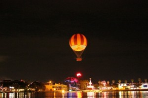 Characters in Flight over Downtown Disney in Walt Disney World