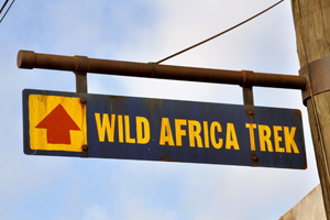 Direction sign to the Wild Africa Trek