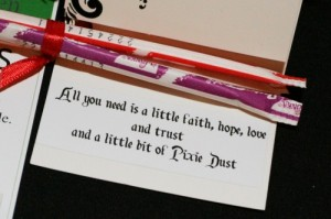 All you need is a little faith, hope, love and trust and a little bit of Pixie Dust - Party Favor
