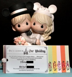 Disney style wedding invitation