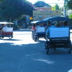 Local transportation in Cambodia tuk-tuk