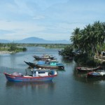 Fishing boats in river