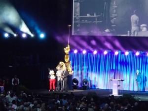 Collin Campbell's son receiving award