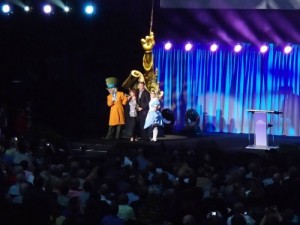 Ed Wynn's Grand Daughter accepting award