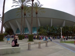 Line up outside Arena