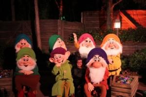 Meeting the Seven Dwarfs - Copyright Liliane Opsomer
