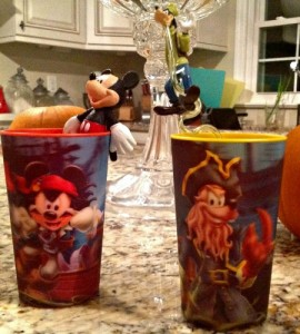 Mickey and Goofy cups