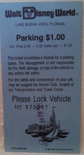 WDW Parking Ticket - 1981