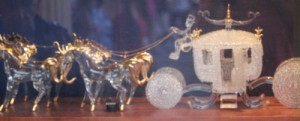 Carriage made of blown glass.