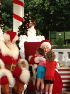 Meeting Santa and Mrs. Claus
