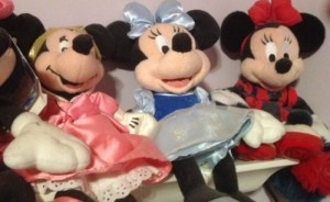 Some of the original Minnie plush collection