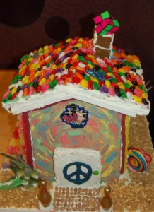 Gingerbread house made by cast members of Pop Century Resort