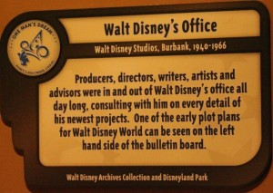 Walt Disney's Office Sign
