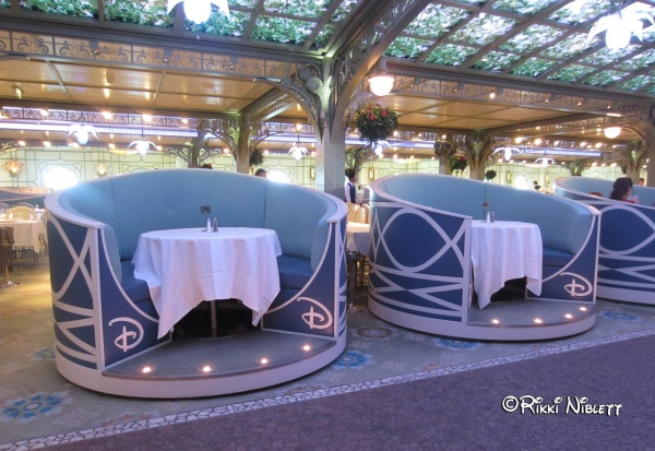 Enchanted Garden Booths on The Disney Dream