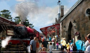 Hogsmeade Station ©2013 Universal Orlando. All Rights Reserved.