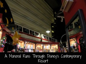 Monorail runs Disney's Contemporary