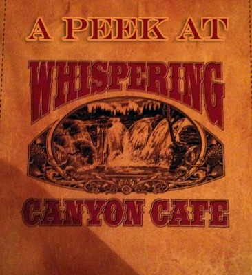 A Peek At Whispering Canyon Cafe