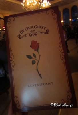 Be Our Guest Menu