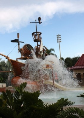 Splash area of the pool at Disney's Caribbean Resort