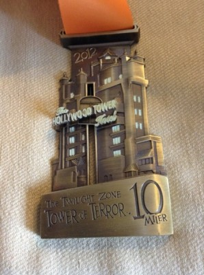 Disney Tower of Terror 10 Miler Medal