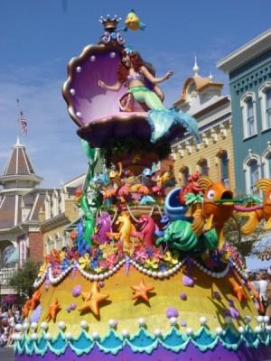 Festival of Fantasy Parade Ariel Little Mermaid Float (1)
