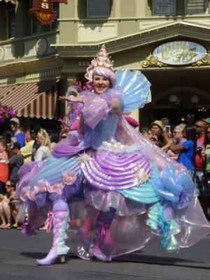 Festival of Fantasy Parade Ariel Little Mermaid Float