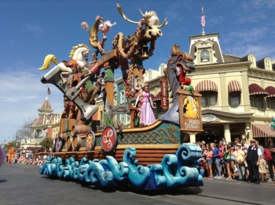 Festival of Fantasy Parade Rapunzel Tangled Float (2)