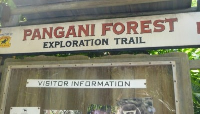 Pangani Exploration Trail Sign