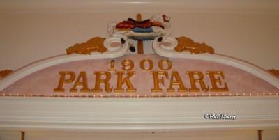 1900 Park Fare sign