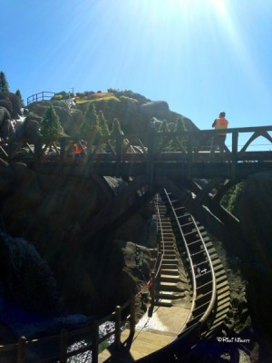 Mine Train construction from February