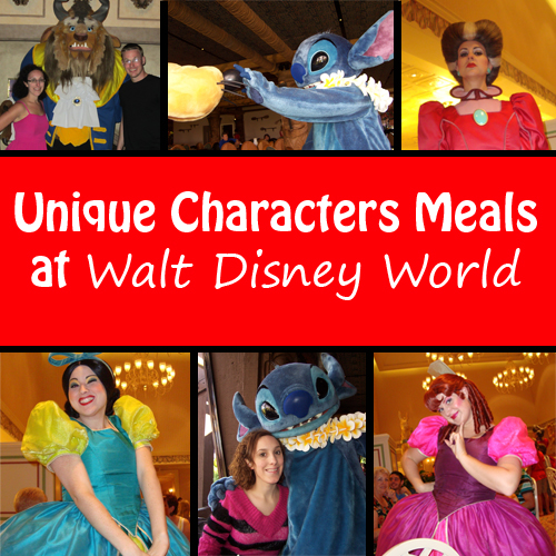 Unique Character Meals at Walt Disney World