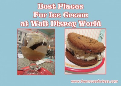 Best Places for Ice Cream at Walt Disney World