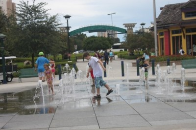 Summer fun at Downtown Disney Splash Zone