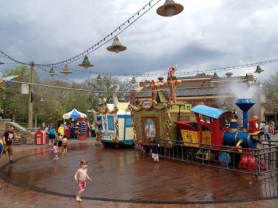he Casey Jr. Splash 'N' Soak Station in the Storybook Circus section