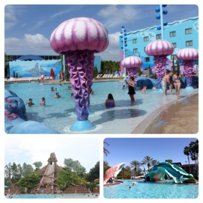 Pools at Art of Animation, Coronado Springs & Port Orleans French Quarters