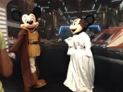 Star Wars Weekends Jedi Mickey Princess Leia Minnie