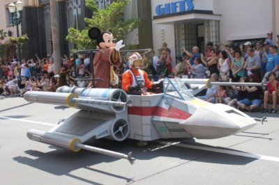 Jedi Mickey at Star Wars Parade