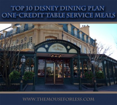 Top 10 Disney Dining Plan One Credit Table Service Meals