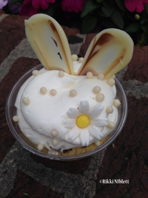White Chocolate Rabbit Cake Cup Icing
