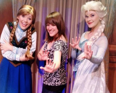 Anna and Elsa at Princess Fairytale Hall - Magic Kingdom