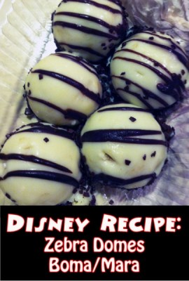 Disney Recipe - Zebra Domes