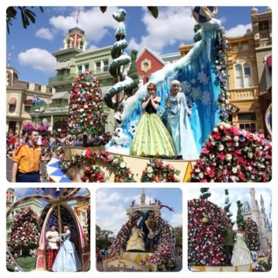 Anna and Elsa at the Festival of Fantasy Parade - Magic Kingdom