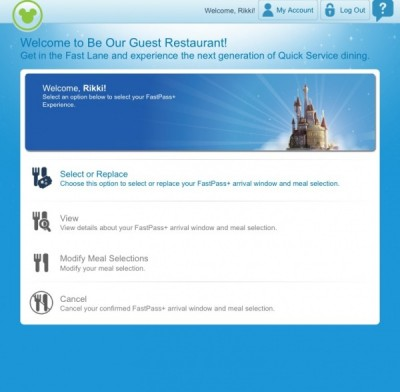 Be Our Guest FastPass Reservation 2