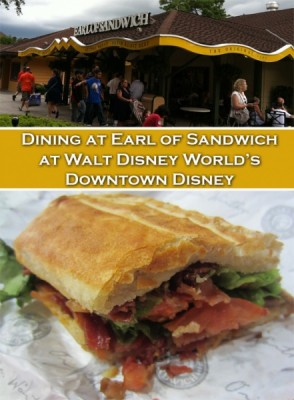 Dining at Earl of Sandwich at Walt Disney World's Downtown Disney