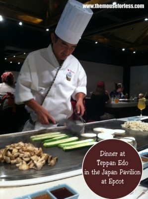 Dinner at Teppan Edo in the Japan Pavilion at Epcot